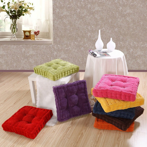 Corduroy Seat Cushions - Various Colors and Sizes