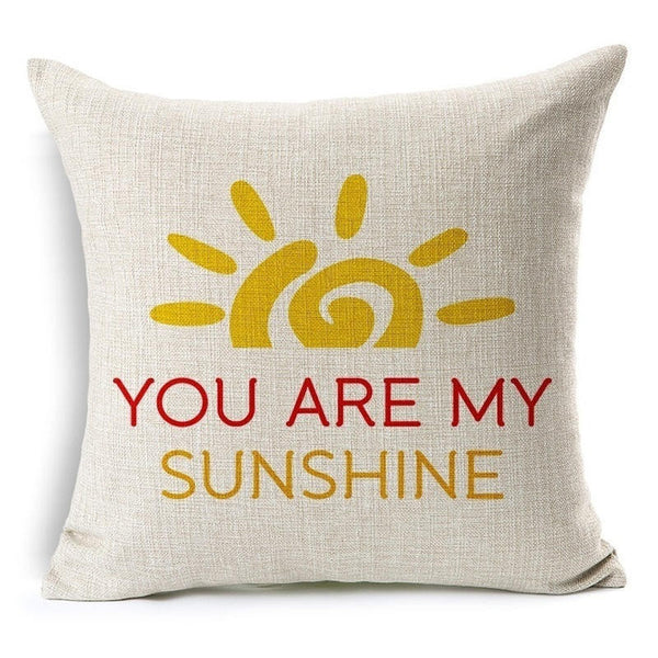 """You Are My Sunshine"" Throw Pillow Cover"