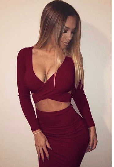 Trisha Dress - Wine