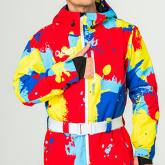 Bankski all in one ski suit onesie map pocket