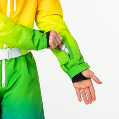 Over the rainbow all in one ski suit onesie Ski Lift Pass Pocket