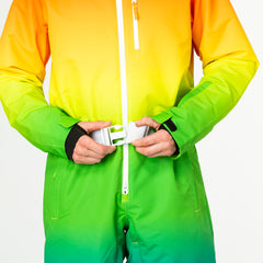 Over the rainbow all in one ski suit onesie chunky belt