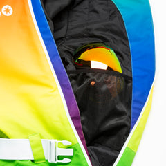 Over the rainbow all in one ski suit onesie mesh goggle pocket