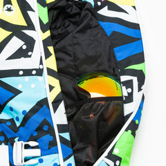 Prosecco Supernova all in one ski suit onesie mesh goggle pocket