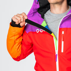 Suit Pastille all in one ski suit onesie fleecy chin guard