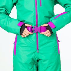 The Hulk all in one ski suit onesie chunky belt