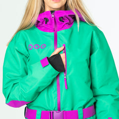 The Hulk all in one ski suit onesie map pocket
