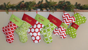 Personalized Christmas stockings for humans and dogs