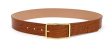 Load image into Gallery viewer, Milla Croco Belt in Cognac Gold