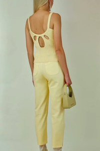 Peggy Knit Tank in Blonde