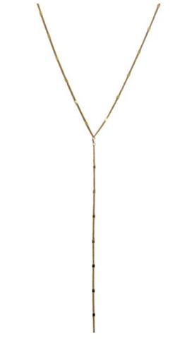 Lariat Necklace Gold