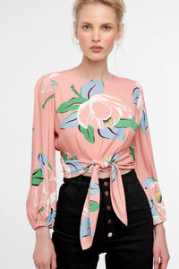 Anais Wrap Top Blush Magnolia