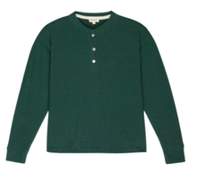 Load image into Gallery viewer, Sweater Henley in Hunter