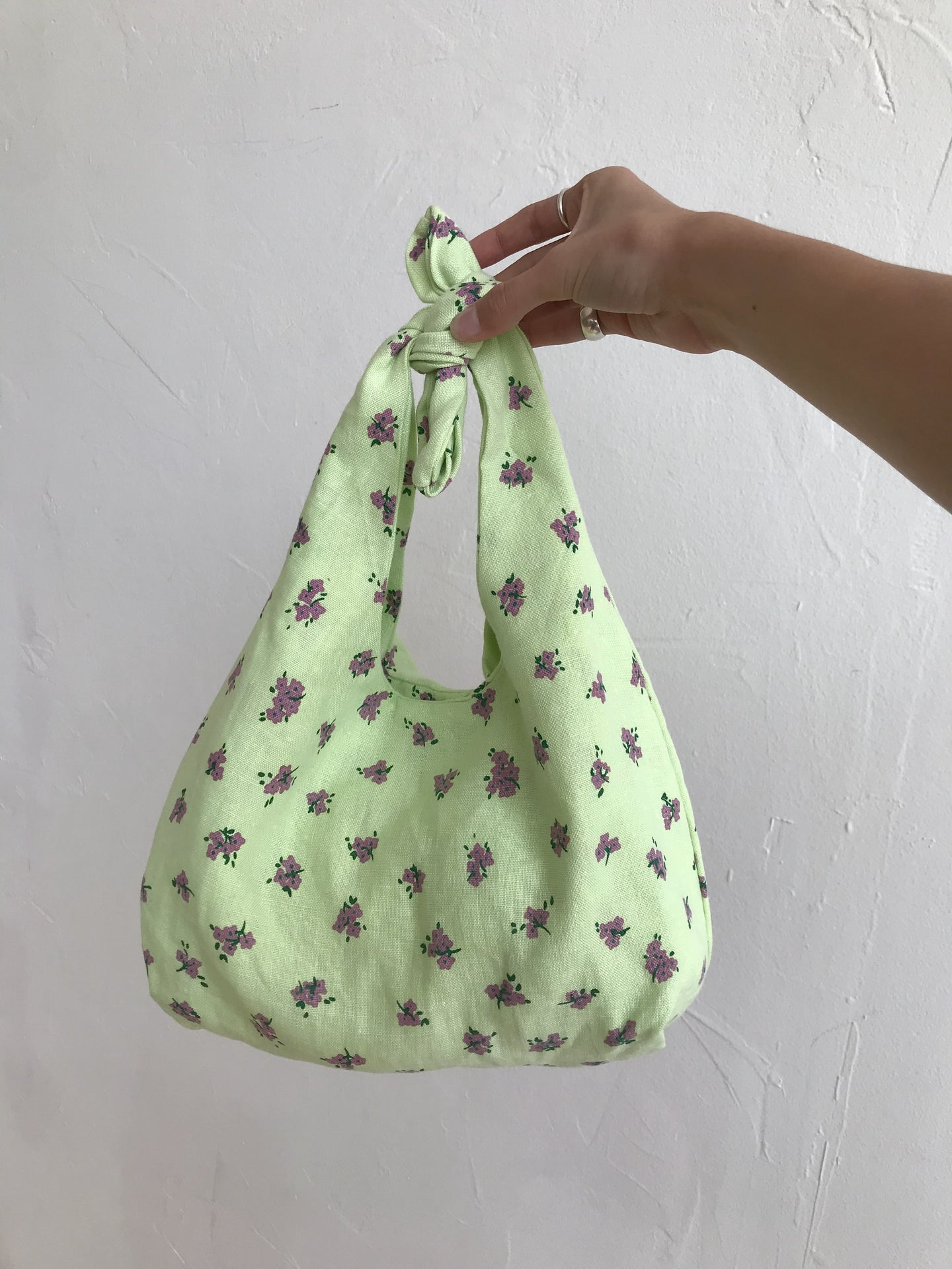 Mini Hanna Tote Bag Luda Floral Lime