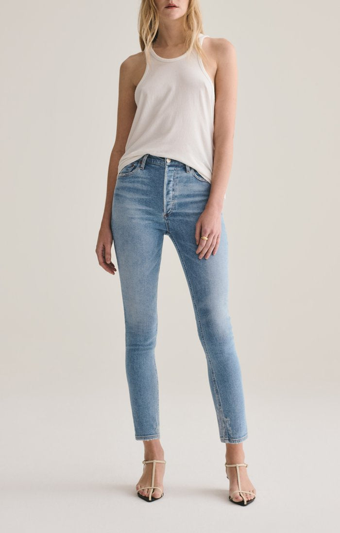 Nico High Rise Slim Jean in Embark
