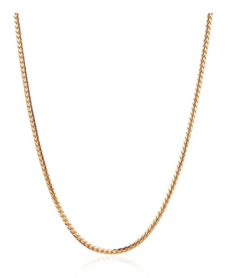Priya Snake Chain Necklace in Gold