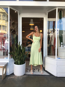 Joan Dress in Celery
