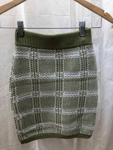 Madison Plaid Sweater Skirt
