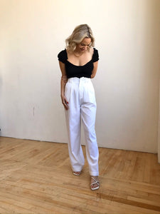 Angelica Woven Pant White