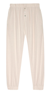 Sweater Henley Sweatpant in Creme