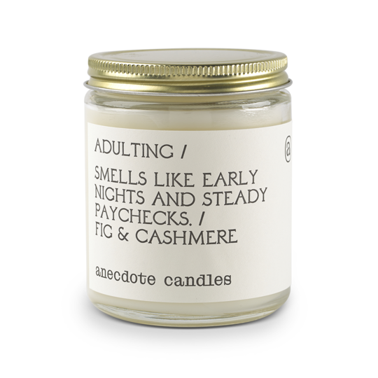 Glass Jar Candle Adulting