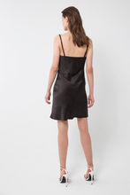 Load image into Gallery viewer, 90s Bias Mini Slip Dress Black