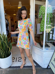 Florence Mini Dress in Ade Floral Print