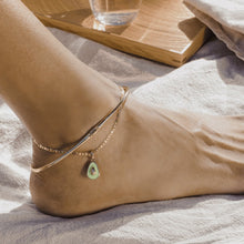 Load image into Gallery viewer, Avocado Charm Anklet