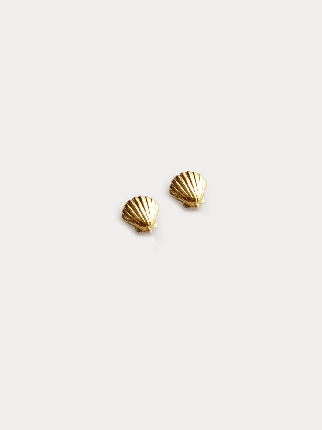 Marcel Shell Gold Studs