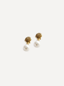 Marcel Shell and Pearl Gold Studs