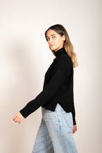 Load image into Gallery viewer, Romary Mock Neck Sweater Black