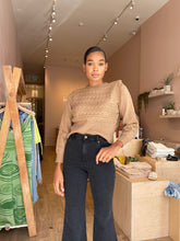 Load image into Gallery viewer, Sophia Notched Shoulder Sweater in Toffee