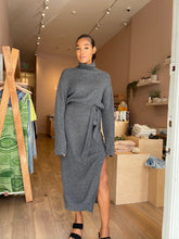 Load image into Gallery viewer, Canaan Cashmere Blend Turtleneck Dress in Graphite