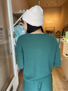 Sweater Henley in Hunter