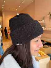 Load image into Gallery viewer, Mini Sherpa Beanie in Black