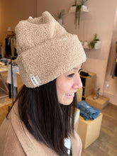 Load image into Gallery viewer, Mini Sherpa Beanie in Sand