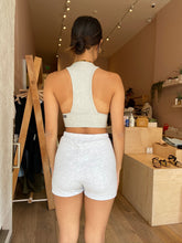 Load image into Gallery viewer, Fitted Sweat Short in Pearl Grey