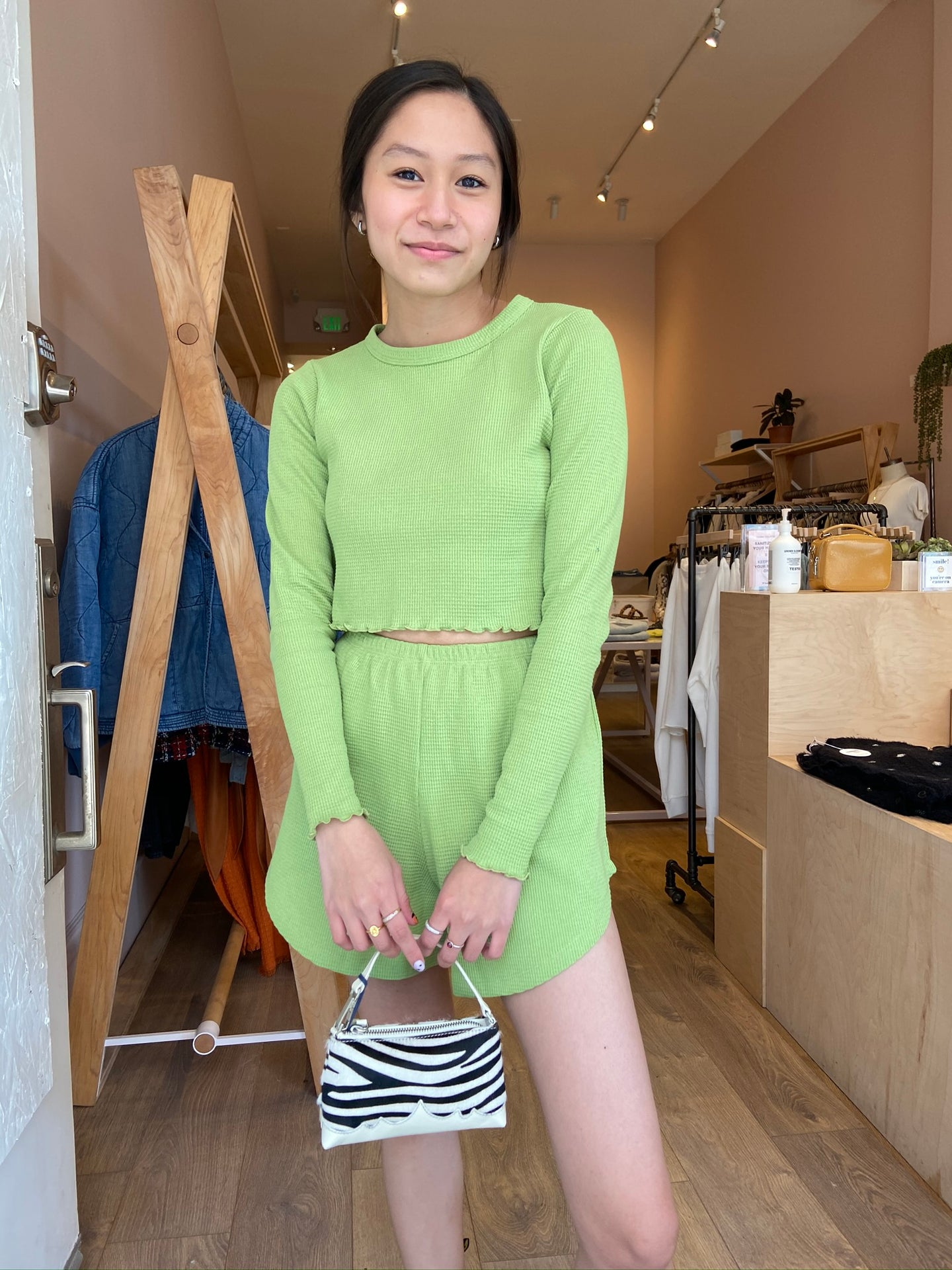 Mia Short in Avocado