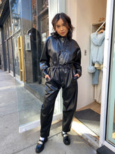 Load image into Gallery viewer, Vegan Leather 80s Jumpsuit in Detox