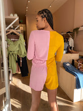 Load image into Gallery viewer, Duo Sweater Henley Short in Mustard/Rose