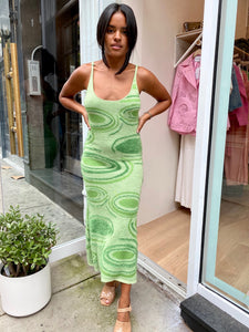 Hockney Dress in Lilypads Palm Green