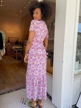 Load image into Gallery viewer, Priscilla Dress in Pink Gold Floral