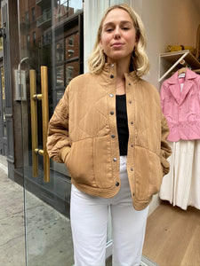 Quilted Chai Tea Jacket