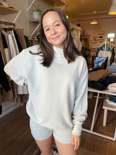 Load image into Gallery viewer, Oversized Turtleneck Sweatshirt in Sahara