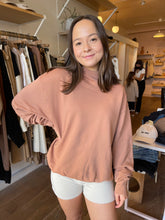 Load image into Gallery viewer, Oversized Turtleneck Sweatshirt in Terracotta French Terry