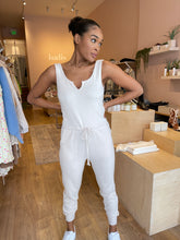 Load image into Gallery viewer, Ribbed Jumpsuit in Natural