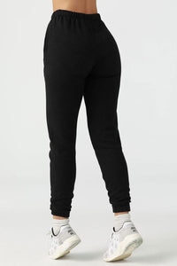 Empire Jogger in Black French Terry