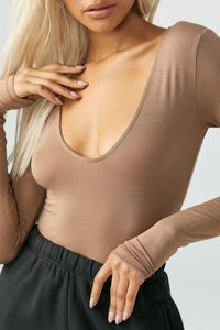 Scoop Neck Long Sleeve in Sienna