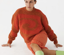 Load image into Gallery viewer, Twister Sweater in Intense Orange