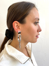 Load image into Gallery viewer, Ramona Marble Chain Link Earrings